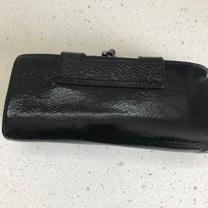Hobo International Nancy black leather wallet